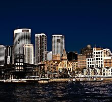 Old vs New - The Rocks - Sydney Cove by Neil Ross