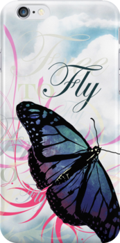 Free To Fly V2 iPhone Case by Carrie Jackson