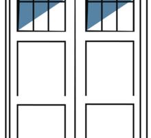 Multi-colour TARDIS Sticker