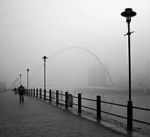 Mist on the Tyne by Alan Roberts