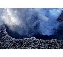 Smoking crater of Mount Benbow Photographic Print