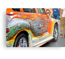 PT CRUISER GRAVE YARD CAR Metal Print