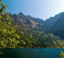 Morskie oko lake in the mountains by Dfilyagin