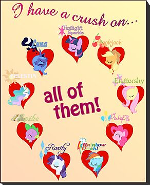 I have a crush on... all of them! - Poster by Stinkehund