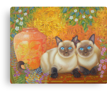 Moon Diamond Siamese Canvas Print