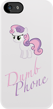 Sweetie Belle - Dumb Phone Case by phyrjc2
