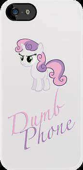 Sweetie Belle - Dumb Phone Case by phyrjc2