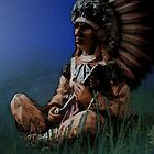 Sitting chief i phone case by Dawnsky2