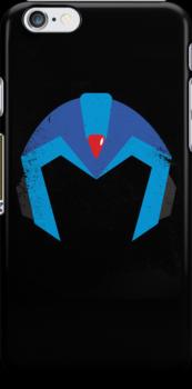 Mega Man X Helmet iPhone Case by thedailyrobot