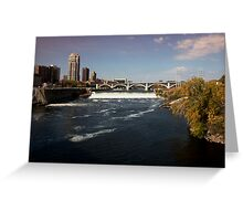The Mississippi River View From the Stone Arch Bridge Greeting Card