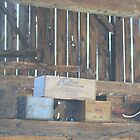 Old Boxes in Barn by Tom Dwyer