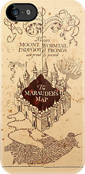 Marauders Map Iphone Case by Rachel Miller