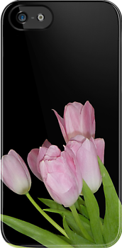 Pink Tulips  [iPhone Case] by Sheila Laurens