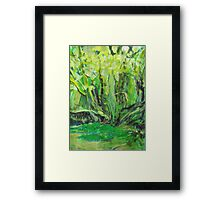 Flowing Green Framed Print