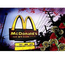 McDonald's Sign: Strawberry Lemonade Photographic Print