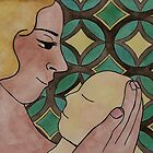 Mother and Child (Illustration) by Kelly Gatchell Hartley