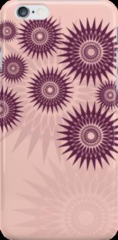 Sunburst Stars iPhone 4 Case by webgrrl
