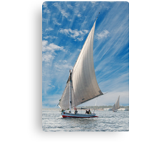 FELUCCAS ON THE NILE Canvas Print
