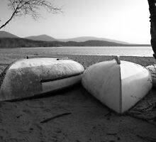 Black & White Boats by Rob Johnston