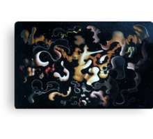 """Surreal Construction in the Vicinity of Globular Cluster M13 - oil on canvas - 22"""" x 14"""" Canvas Print"""