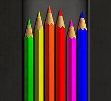 Coloured Pencils by Alisdair Binning