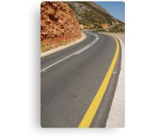 Costal road Canvas Print