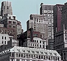Skyline Past - New York City II by Glenn Cecero