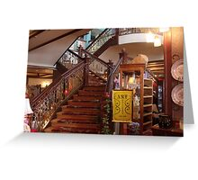 stairway at the tea house in Cripple Creek Greeting Card