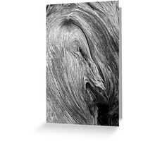 Face in the Wood Greeting Card