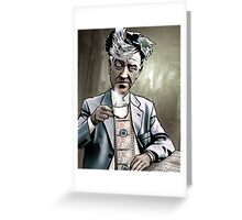 "David Lynch ""Strange Brew"" Greeting Card"