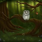 Wise old owl in Forest by Tiarne White