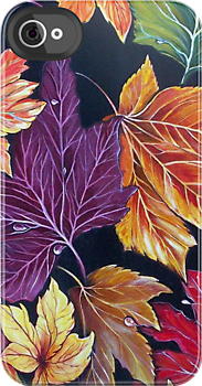 Autumn Leaves iPhone Case by © Linda Callaghan