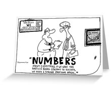 Business Numbers Greeting Card