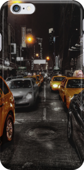 New York Cabs iPhone case by Sam  Parsons