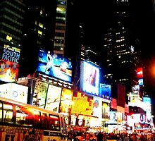 Lights of Times Square by K-Jo