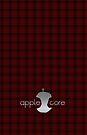 Apple Core - Red Tartan by Benjamin Whealing