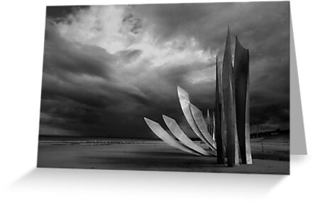 The Rise of Freedom at Omaha Beach by cclaude
