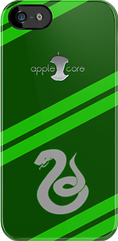 Apple Core - Slytherin by Benjamin Whealing