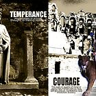 Cardinal Virtues: Prudence, Temperance, Courage, Justice Collage by AmbientKreation