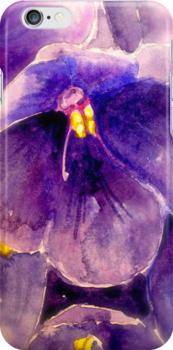 Purple Pansy....Iphone Case by © Janis Zroback