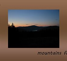 Watching the Mountains Fade Away by Doug Gruber