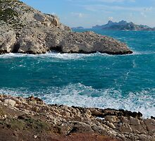 Panoramic view of Mediterranean coast, France, Marseille by Sami Sarkis