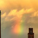 11.10.2011: Rainbow and Tower by Petri Volanen