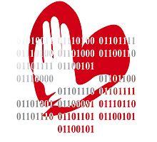 Heart love peace binary code design by Veera Pfaffli