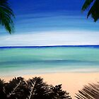 Key West Florida tropical beach acrylic painting by Rick Short
