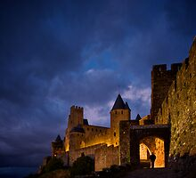 Carcassonne at Night by Bruce Alexander