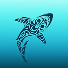 Tribal Shark iPhone Case Tattoo by David Alexander Elder