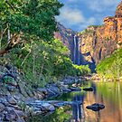 A DISTANT JIM JIM FALLS by Raoul Madden