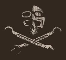 Vintage Race Skull by BlackPineDesign