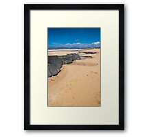 Landscape, Traigh Mhor beach, Finger of rock Framed Print